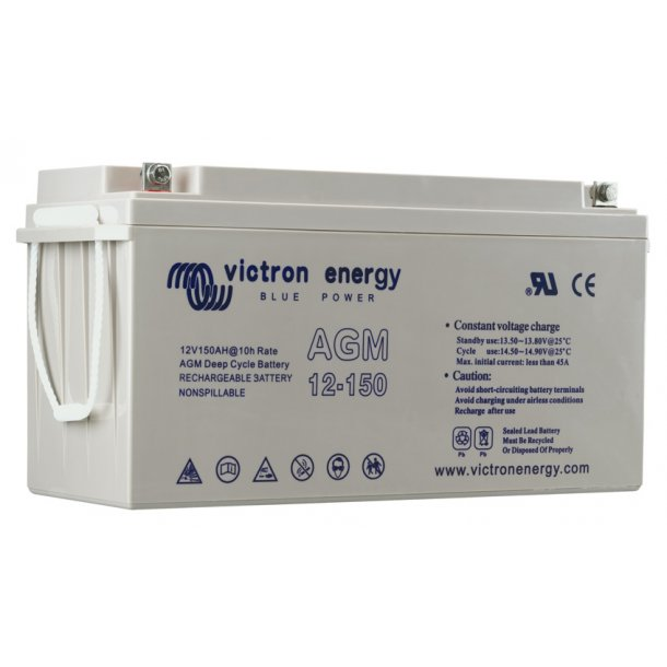 Victron Battery - 12V/165Ah AGM Deep Cycle Batt.