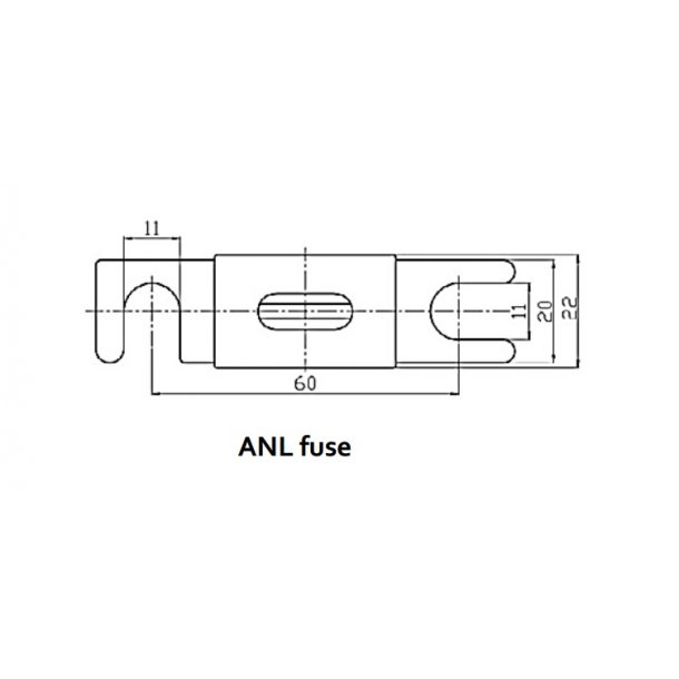 ANL-fuse 500A/80V for 48V products (1 stk)