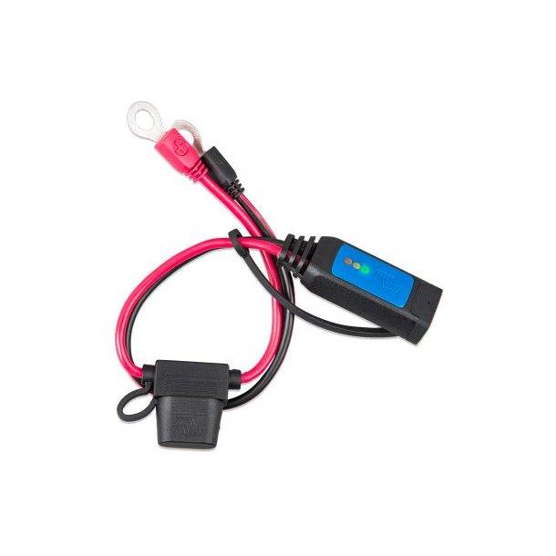 Batteriindikator på kabel (M8 ringkabelsko / 30A ATO sikring)